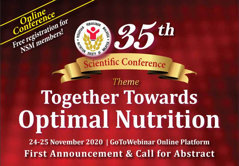 Nutrition Society of Malaysia (NSM) Conference 24-25 Nov 2020